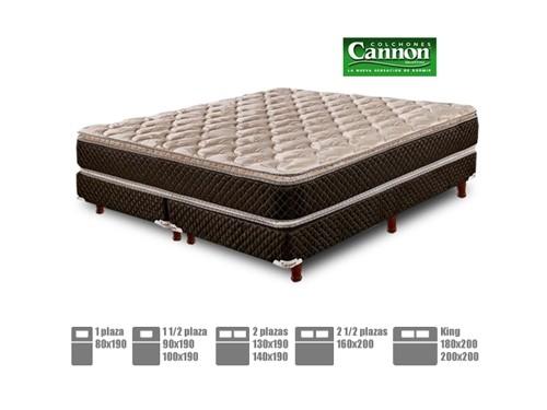 Colchón sommier Cannon espuma alta densidad Pillow Top Exclusive