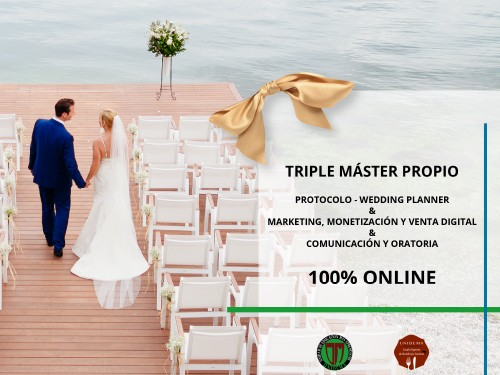 Triple Máster: Wedding Planner, Marketing Digital, Comunicacion