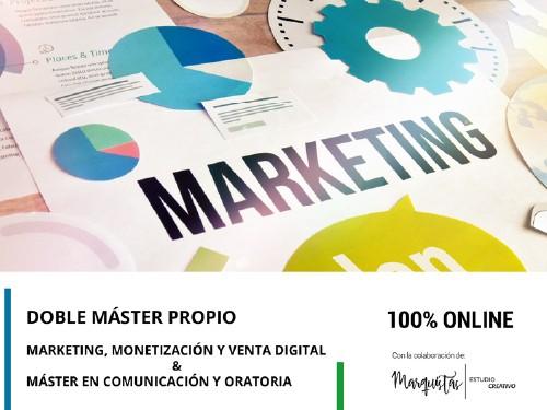 Doble Mastér propio en Marketing, Monetización y Venta Digital