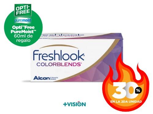Lentes de contacto Freshlook Colorblends | Segunda unidad 30% off