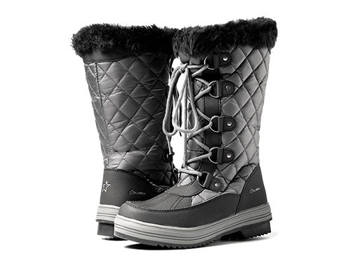 Botas Apreski Nieve Impermeables Invierno Gris Mujer Alaska Zafiro