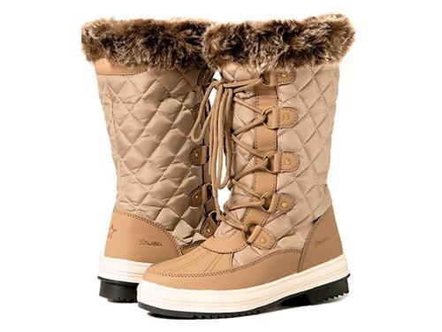 Botas Apreski Nieve Impermeables Invierno Beige Mujer Alaska Zafiro