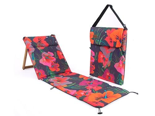 Reposera Chilly Plegable Portátil Diseño Hibiscus