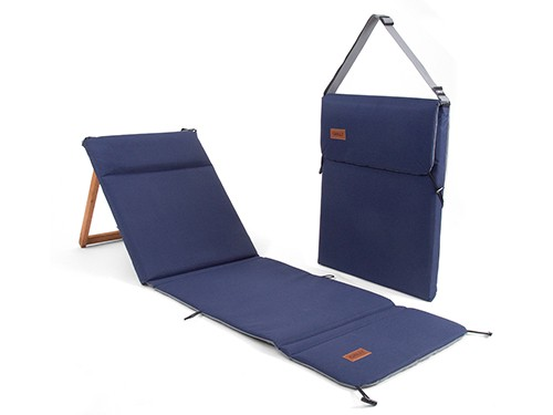 Reposera Chilly Plegable Portátil Diseño Azul Marino