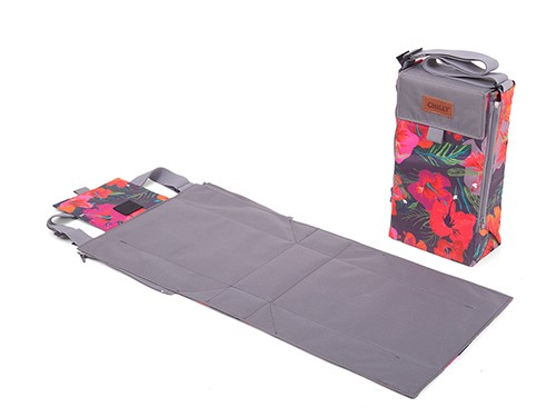 Bolso Matero Chilly Desplegable de Tela Diseño Hibiscus