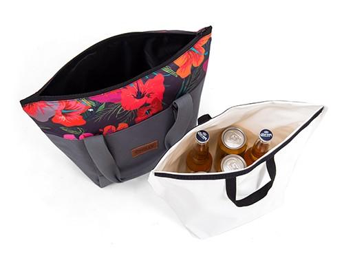 Bolso Térmico Chilly 10 lts de tela estanco diseño Hibiscus