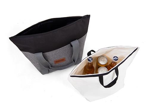Bolso Térmico Chilly 10 lts de tela estanco diseño Negro