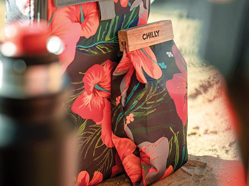 Yerbera de Tela Chilly 500 grs Diseño Hibiscus