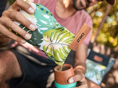 Yerbera de Tela Chilly 500 grs Diseño Selva