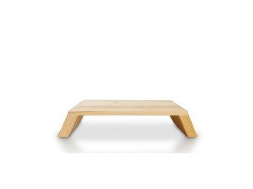 Soporte base de madera para monitor