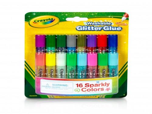 Adhesivo Mini Glitter Crayola T Oficial X 16 Colores