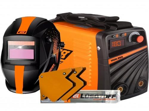Soldadora Inverter Lusqtoff Iron 250 + Mascara + Electrodos + Escuadra