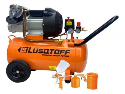 Compresor Lusqtoff Lc2550bk 50 Lts 2.5hp + Kit