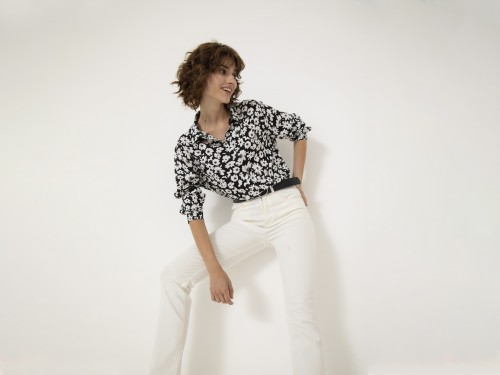 Camisa de Mujer Cicely Flores Yagmour