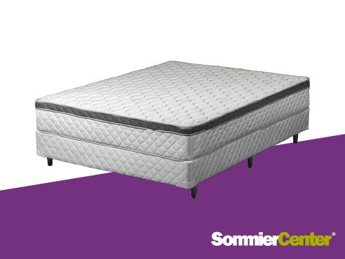 Sommier y colchón Resorte Bonnell 140x190x23 Jackard Euro Telgo