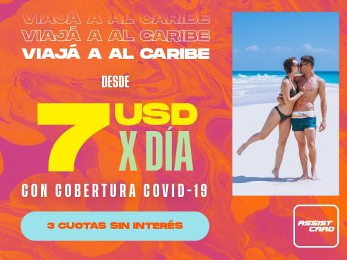Viaja Protegido al Caribe desde 7 USD x Día. Incluye Cobertura COVID19