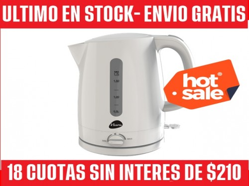 PAVA ELECTRICA MATE Y HERVIR- 18 CUOTAS SIN/INT DE $210 Y ENVIO GRATIS