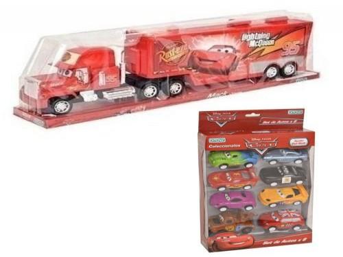Combo Camión Mack A Fricción Cars + Set Autos Cars x 8