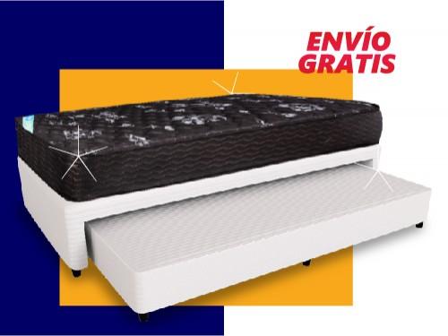 Conjunto Sommier Marinero y Colchón Resortes Inducol Imperial 90x190