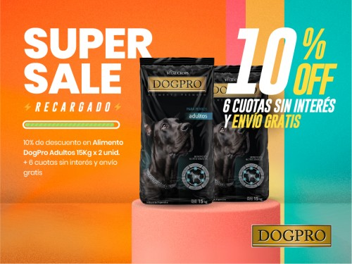 Alimento balanceado premium DOGPRO adulto 15 kg x 2 unidades