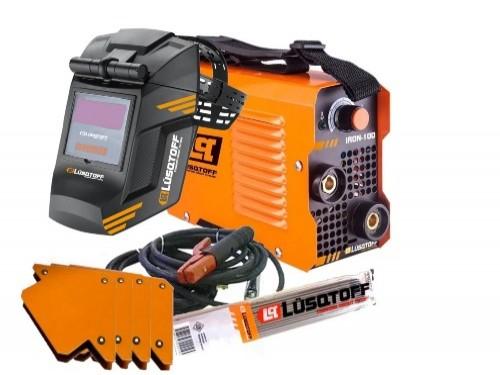 Soldadora Inverter Lusqtoff Iron 100 + Mascara +Electrodos +4 Escuadra