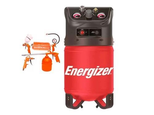 Compresor De Aire Energizer 12 Litros Sin Aceite Compacto + kit pintar