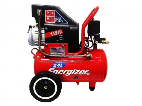 Compresor De Aire Energizer 24/25 Litros 2hp 8 Bar Para Pintar compact