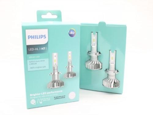 Lámparas Led Philips Ultinon H7 6200K por Juego