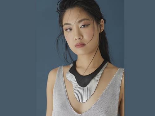 Collar Brigitte Wave Double - de Cuero con Flecos - ISKIN SISTERS