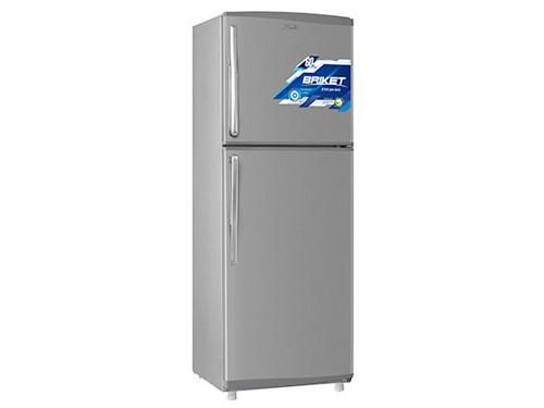 Heladera Con Freezer Inverter 365 Lts. Gris Plata Briket