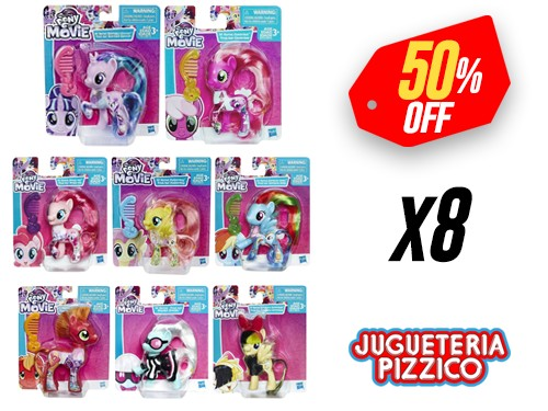 Muñecas Pony 8 unidades My Little Pony Hasbro