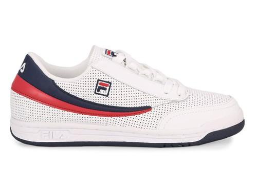 Zapatillas Fila Original Tennis Perf - Blanco y Azul-Marino
