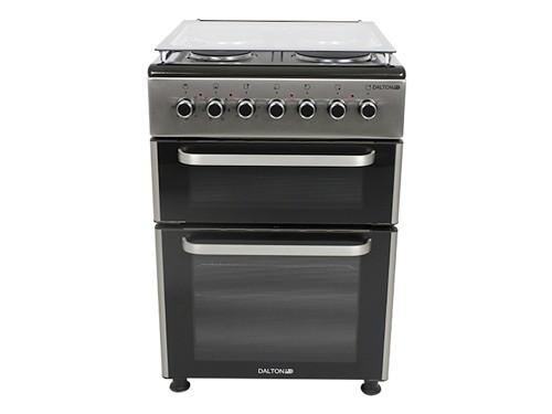 Cocina Eléctrica Doble Horno 60x60cm Palta/Negra Dalton