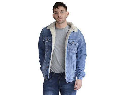 Campera de jean con piel de corderito Energy Kout Hombre
