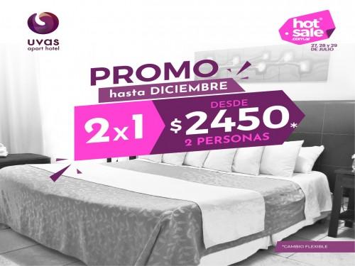 Hotel en Mendoza 2x1 desde $2450 2 personas cambio flex hasta Dic 2020