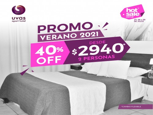 Hotel en Mendoza 2personas VERANO 2021 40% off desde $2940 cambio flex