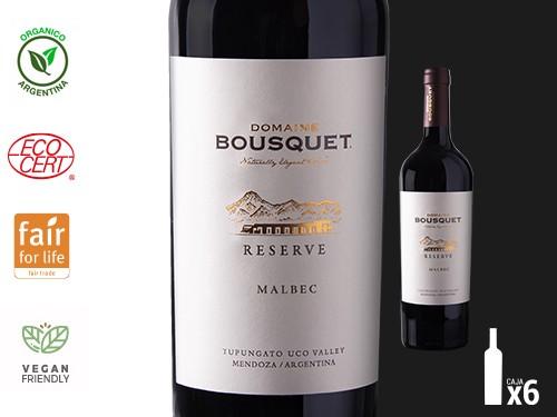Vino Malbec Reserve Orgánico 6x750 ml. Domaine Bousquet