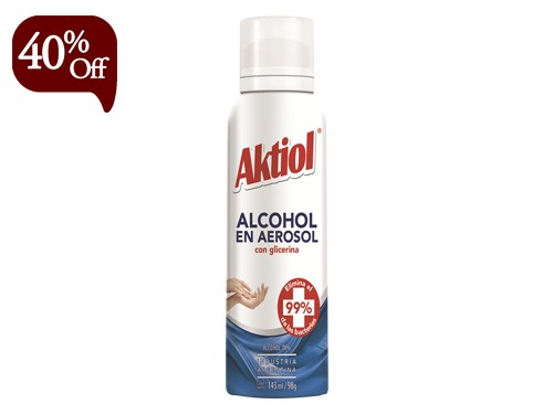 Alcohol en Aerosol con Glicerina 143 ml Aktiol