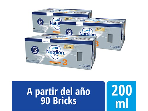 Pack Nutrilon Profutura 3 Bricks 200ml