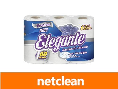Papel Higiénico 60Mt Pack x 6 Elegante Extra Blanco