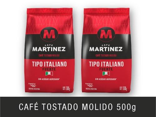 Pack café molido Tipo Italiano 500g Café Martínez