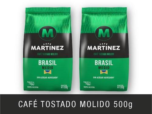 Pack café molido Brasil 500g Café Martínez