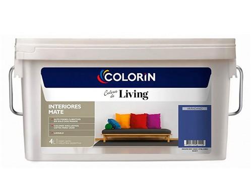Pintura Látex Interior Colorin Living Varios Colores 4 Lts