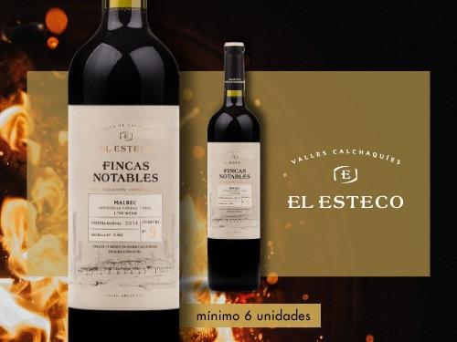 Vino tinto - Fincas Notables Malbec 750ml. - El Esteco
