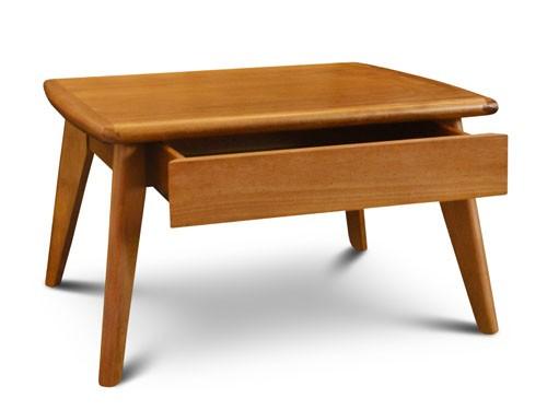 Mesa centro con cajon escandinava madera