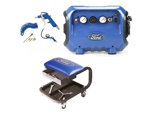 Compresor 6 Lts. + Kit Accesorios + Asiento Mecanico Ford