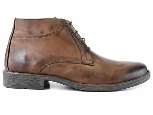 Botita Hombre Cuero Briganti Bota Botineta Chocolate Zapato Vestir