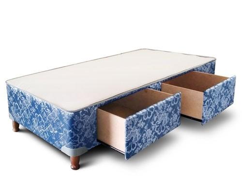 Box 1 plaza con cajones y corredera metalica 80x190