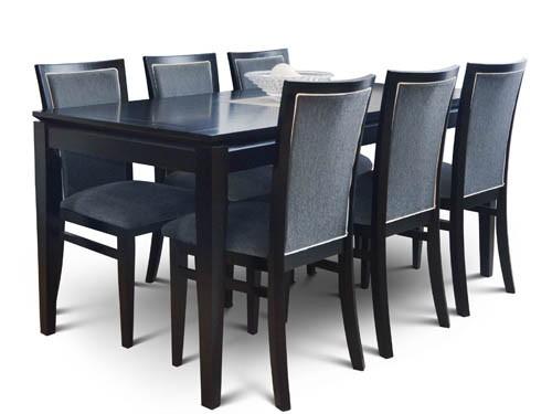 Juego comedor mesa y sillas 180x85 madera