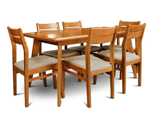 Juego comedor escandinavo 160x85 madera